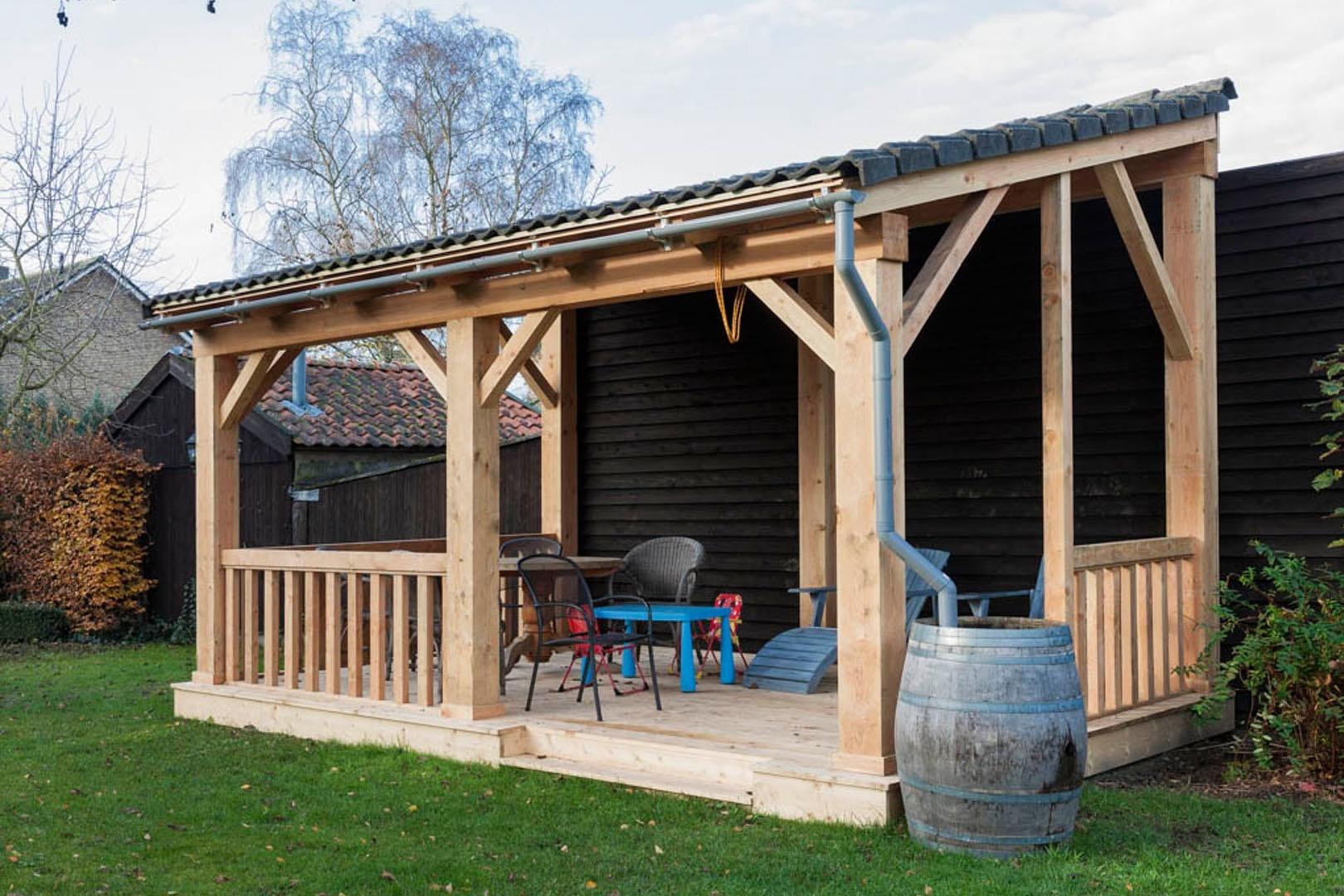 Houten carport op maat online veranda shop online for Houten veranda